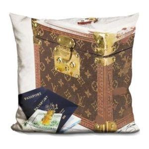 New Let's Travel Passport Decorative Accent Pillow